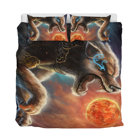 Image of 1stIceland Viking Bedding Set, Fenrir Norse Wolf K5 - 1st Iceland