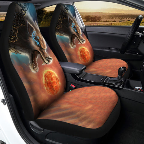1stIceland Viking Car Seat Covers, Fenrir Norse Wolf K5 - 1st Iceland