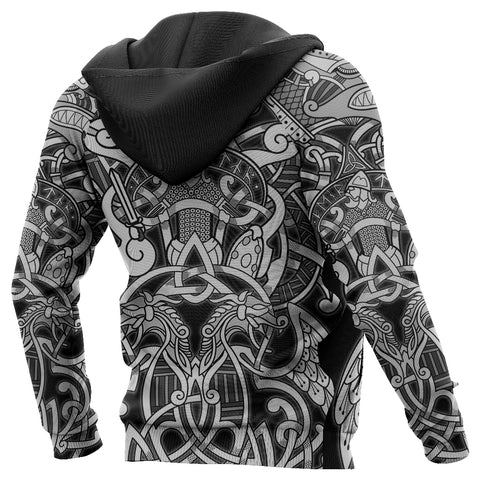 1stIceland Viking Zip Up Hoodie, Fenrir and Tyr Tattoo K4 - 1st Iceland