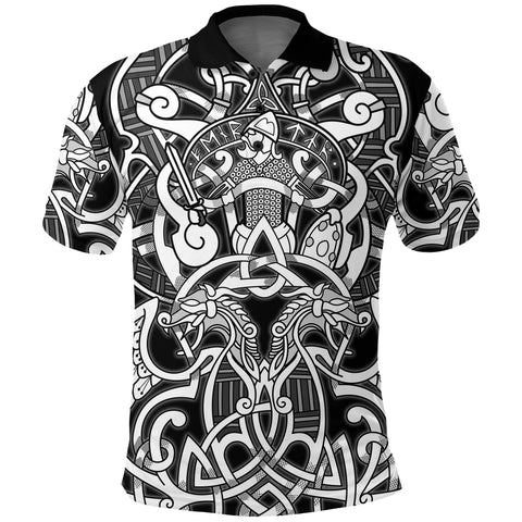 1stIceland Viking Polo T-Shirts, Fenrir and Tyr Tattoo K4 - 1st Iceland