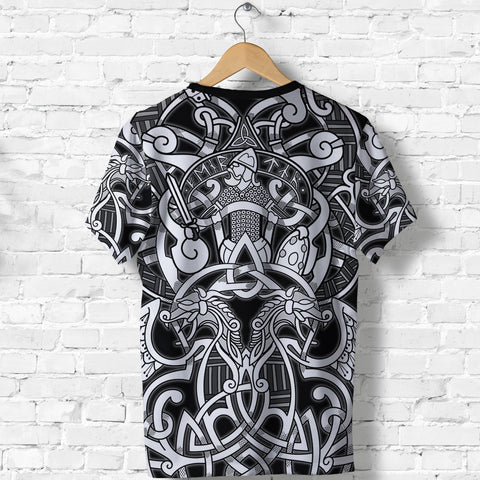 Image of 1stIceland Viking T-Shirt, Fenrir and Tyr Tattoo K4 - 1st Iceland