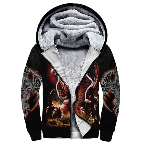 1stIceland Sherpa Hoodie, 3D Tattoo and Dungeon Dragon - 1st Iceland