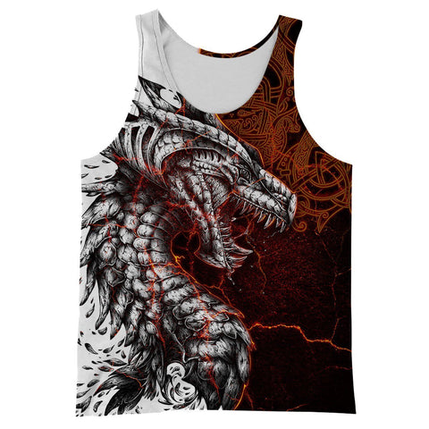 1stIceland Dragon Men's Tank Top Special Tattoo TH12 - 1st Iceland