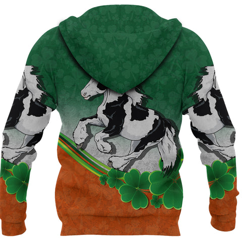 Image of 1stIceland Gypsy Horse Hoodie, Gypsy Vanner Pullover Hoodie K4 - 1st Iceland
