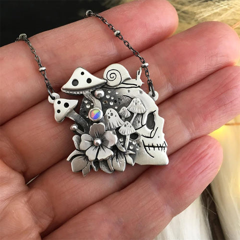 Flower Skull Necklace TH19