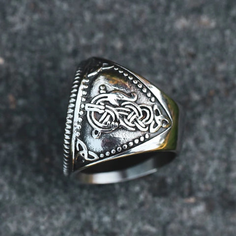 1stIceland Vikings Ring, Fenrir Runes Circle Th00 - 1st Iceland