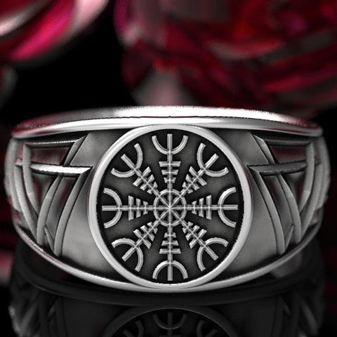 Image of 1stIceland Vikings Ring, Helm of Awe Th00 - 1st Iceland