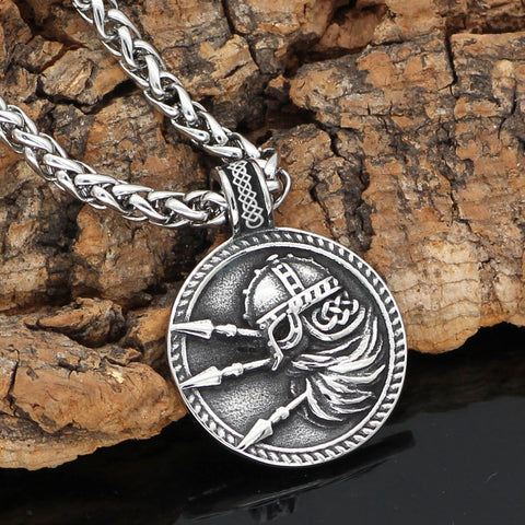 Image of 1stIceland Jewelry, Norse Vikings Odin Amulet Stainless Steel Necklace - 1st Iceland