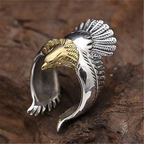 Image of Sterling Silver Eagle Ring TH17 - 1st Iceland