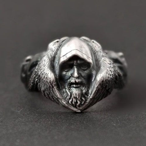 Image of 1stIceland Vikings Ring, Odin's With Ravens Th00 - 1st Iceland