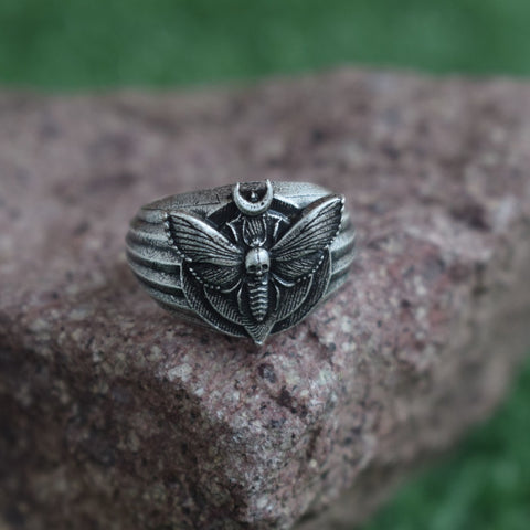 Silver Moth Ring TH19 - 1st Iceland