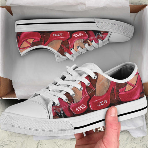 Image of Delta Sigma Theta Low Top Shoes - 1st Iceland