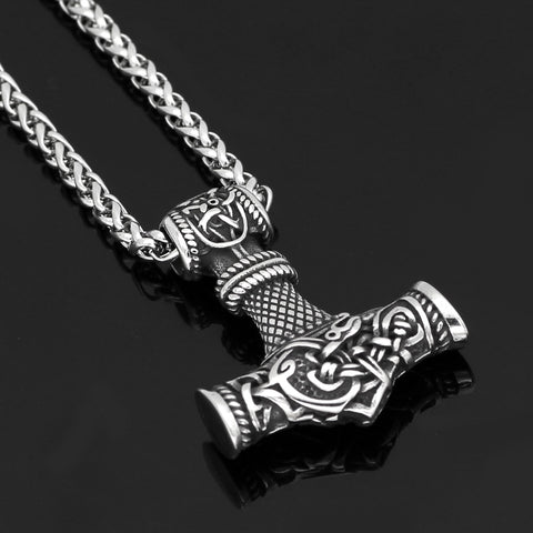 Image of 1stIceland Jewelry, Norse Vikings Thor Hammer Stainless Steel Necklace - 1st Iceland