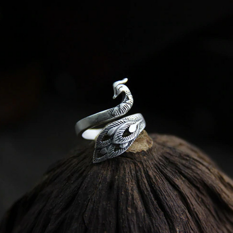 Adjustable Peacock Ring TH19
