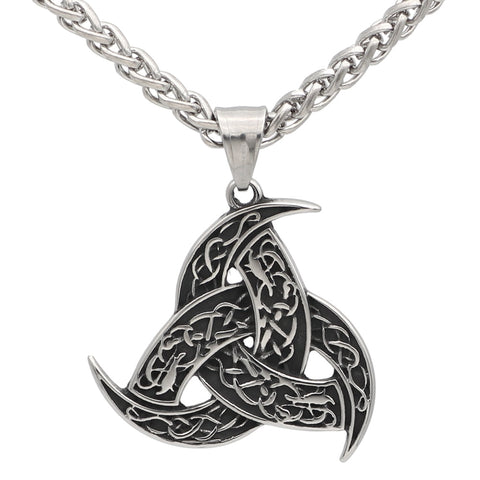1stIceland Jewelry, Viking Odin's Horn Wolf Stainless Steel Necklace - 1st Iceland