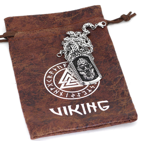 1stIceland Jewelry, Norse Vikings Odin Amulet Stainless Steel Necklace - 1st Iceland