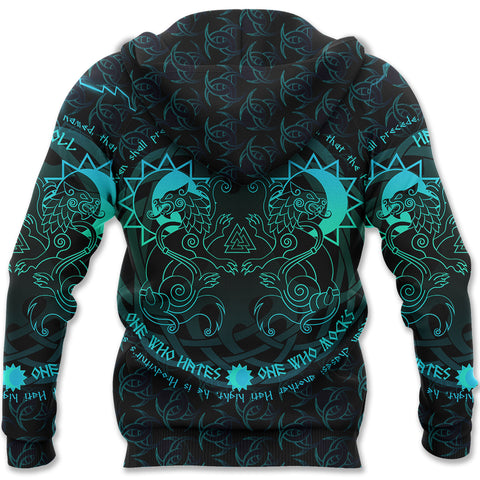 Image of 1stIceland Viking Zip Hoodie - Skoll & Hati Tree Of Life Fenrir K13 - 1st Iceland