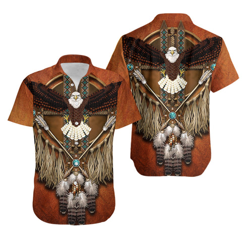 1stIceland Native American Hawaiian Shirt Eagles Dreamcatcher TH4 - 1st Iceland
