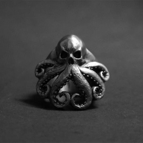 Image of Octopus Skull Ring TH19