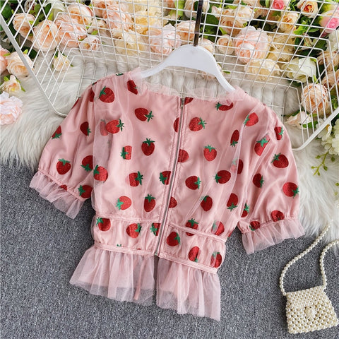 Cute Strawberry Blouse TH19 - 1st Iceland