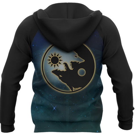 1stIceland Viking Zip Up Hoodie, Tree Of Life Fenrir Skoll And Hati Raven Rune TH00 - 1st Iceland