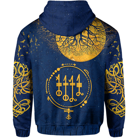 1stIceland Viking Svefnthorn Zip Hoodie, Raven The Moonlight 2 K13 - 1st Iceland