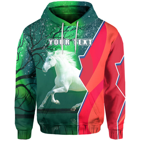 (Custom Personalised) 1stIceland Horse Hoodie Northern Lights K13 - 1st Iceland