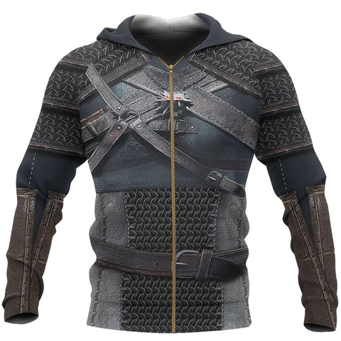 Witcher Hoodie, New Witcher Armor Zip Hoodie Th00 - 1st Iceland