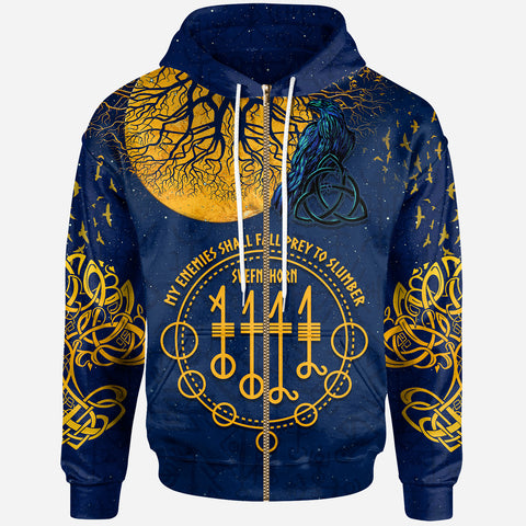 1stIceland Viking Svefnthorn Zip Hoodie, Raven The Moonlight K13 - 1st Iceland