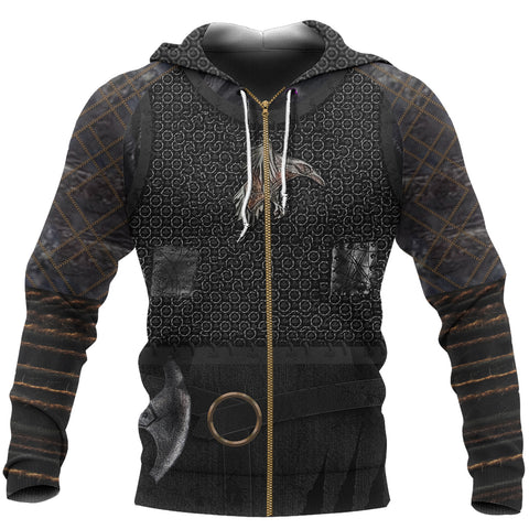Image of 1stIceland Viking Zip Up Hoodie, New Raven 3D Armour TH00 - 1st Iceland