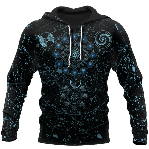 Image of 1sticeland Alchemy Sky Signs 3D Hoodie