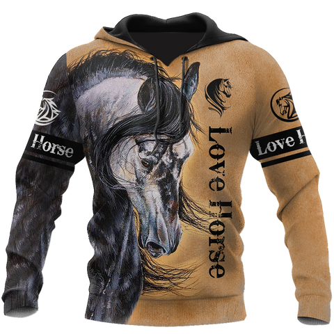 1sticeland Love Horse Hoodie