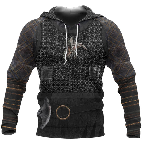 1stIceland Viking Pullover Hoodie, New Raven 3D Armour TH00 - 1st Iceland