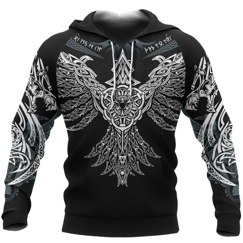 1stIceland Viking Hoodie, Raven Of Odin Th00 - 1st Iceland