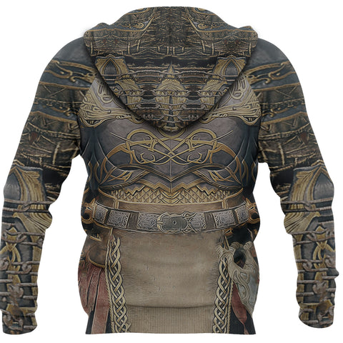 1sticeland Zip Up Hoodie, Kratos Armor All Over Print TH00 - 1st Iceland