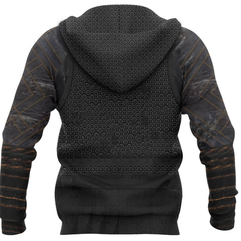 Image of 1stIceland Viking Zip Up Hoodie, New Valknut 3D Viking Armour Th00 - 1st Iceland