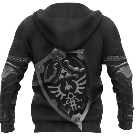1stIceland Pullover Hoodie, 3D Dark Link Costume All Over Print - 1st Iceland