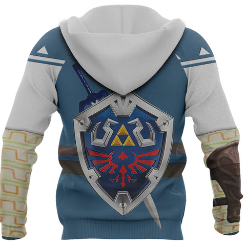 1sticeland Zip Up Hoodie, 3D Link Costume All Over Print - 1st Iceland