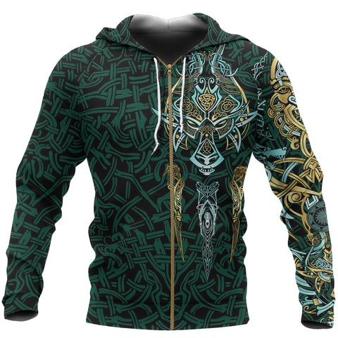 1stIceland Viking Zip Up Hoodie, Fenrir The Vikings Wolves Th00 - 1st Iceland