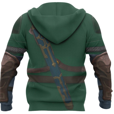 Image of 1sticeland Zip Up Hoodie, 3D Link Costume All Over Print - 1st Iceland