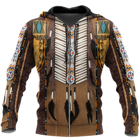 1st Iceland Premium Native American Culture 3D Zip Hoodie TH12 - 1st Iceland