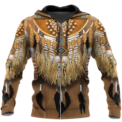 1st Iceland Premium Native American Culture Zip Hoodie TH12 - 1st Iceland