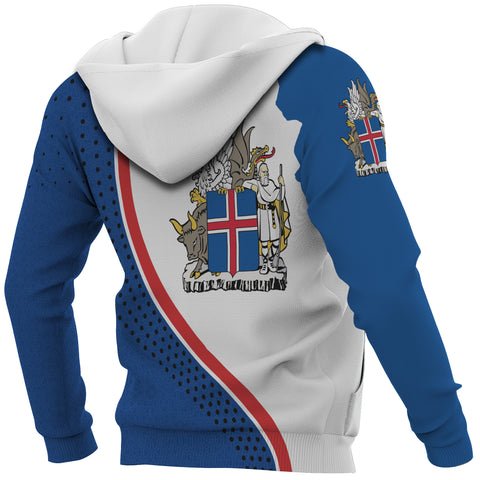 Image of 1stIceland Pullover Hoodie, Iceland Flag MapCoat Of Arms K7 - 1st Iceland