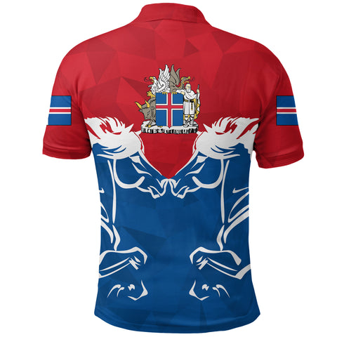 1stIceland Polo Shirt, Icelandic Horse Coat Of Arms Couple Style K4 - 1st Iceland