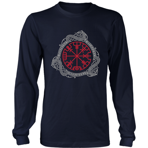 1stIceland Viking T-Shirt, Magical Runic Compass Vegvisir A7 - 1st Iceland