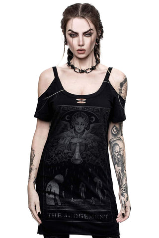 Image of Judgement Distress Top TH10