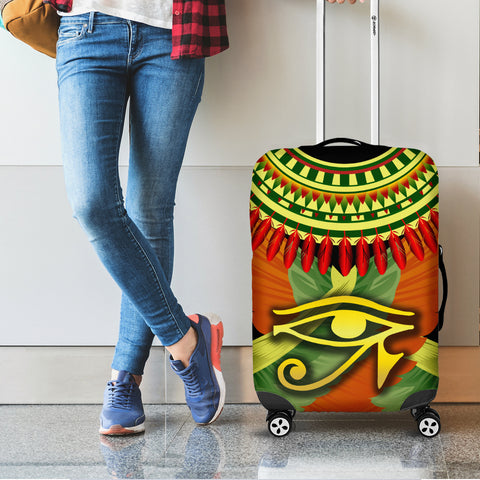 Image of 1stIceland Horus Eye Luggage Covers Ankh Egypt Eagle Wings K8 - 1st Iceland