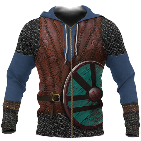 Image of 1stIceland Viking Zip Up Hoodie, Shield Maiden Lagertha K4 - 1st Iceland