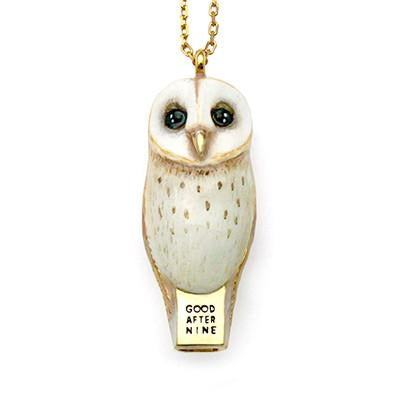 Barn Owl Whistle Necklace TH19