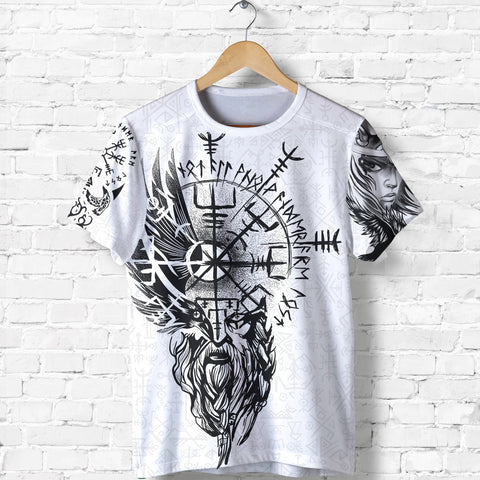 Image of 1stIceland Viking Valkyrie T Shirts Odin's Raven Valknut Helm Of Awe TH5